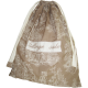 """sac à linge Toile de Jouy beige et écrue avec inscription brodée """"linge sale"""""""