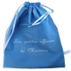 sac à doudou en coton bleu personnalisable avec prénom brodé