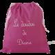 sac à doudou coton rose fuchsia personnalisable avec prénom brodé