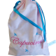 sac à doudou coton rose pâle personnalisable avec prénom brodé