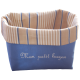 """corbeille en coton avec inscription brodée """"mon petit bazar"""""""