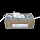 boite à mouchoirs lin et coton avec inscription brodée