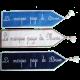 marque page en tissu avec prénom personnalisable brodé
